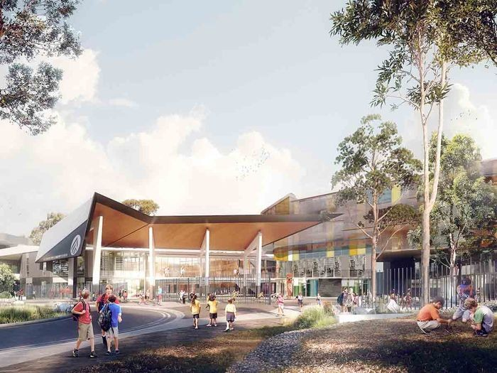 Artist impression of the new Alexandria Park Community School. Credit: Design | TKD Architects, Visualisation | Narrative.